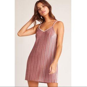 Jack BB Dakota Pasadena Pleated Velvet Slip Dress